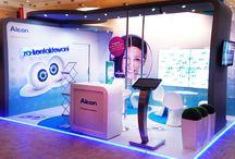 Stoisko Alcon / Stoisko Alcon wyposażone w interaktywną ścianę