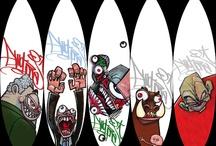 B for Boards: Cruiser, Skate, Surf / #Design#surf #skate #Cruiser #Longboard / by Andréa Imbert