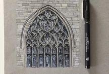 Arc. drawing