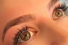 eyelashes and eyebrows