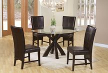 Round Dining Room Tables / We have round tables in wood and glass top in many brands.Come to our showroom of over 20,000 square feet and shop for the best prices. Located just outside Atlanta near Furniture Row in Tucker.  www.americanafurnitureonline.com
