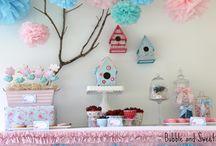 Festa infantil de passarinhos