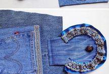 bolsas jeans reciclando