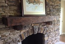 Fire Place Mantels & Shelving / Fire Place Mantles created/designed by Gleman & Sons (Oviedo, Fl) from Reclaimed & Antique wood