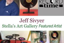 Jeff Sivyer, Record Time / Jeff is a Stella's Art Gallery artist. He specializes in upcycling old records into new functional works. His favorite is making records into clocks. You can find more of his work at www.StellasArtGallery.com