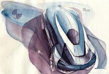 Analog sketches / car design