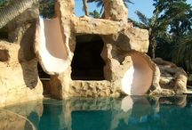 Premier Surfaces Work / We specialize in hand carved waterfalls, decorative concrete and maintenance of all surfaces.