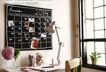 DIY Calendario perpetuo + Pizarra magnética