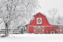 Rustic Barns / Being a library to look like a barn, we have a thing for barns. Bring on the red and the rustic. Ideas on how to decorate the Interior and exterior.