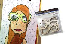 Självporträtt glasögon