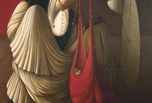 Ida Budetta / Ida Budetta vive e lavora a Milano. Ha seguito percorsi didattici e di formazione del tutto personali. Dopo un primo interesse per la scultura ha poi lavorato nel campo della ceramica e del design per poi scegliere come unico mezzo espressivo la pittura. Una pittura estremamente densa di significati, colta, ricca di allusioni e pregna di singolari evocazioni e simbolismi. Ha esposto in Italia e all'estero. Le sue opere sono presenti in varie collezioni private.