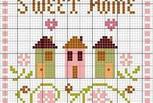 Cross stitching, Embroidery, Charts / by Nan NK