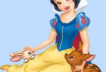 Mural / Snow white and forest animals