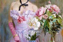 Painting by Konstantin Razumov a Russian impressionist artist