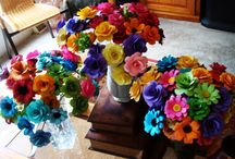 Paper Flower Wedding Bouquets / by Carole Farber