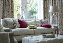 Halcyon Jan17 / Halcyon Pretty cottage garden florals embroidered onto linen and the centrepiece of this collection. A soft-flowing, monochromatic paisley design and a delicate diamond pattern on woven jacquards bring contemporary appeal to this elegant collection. Blossom colours mingle with calming neutrals and on trend shades to create a look that works for all seasons.