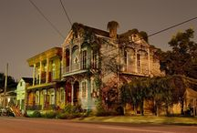 New Orleans Nightscapes by Frank Relle / Night photographs of New Orleans homes