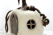 Clay and Textile Fairy Homes / by Lunar Amulet Co.
