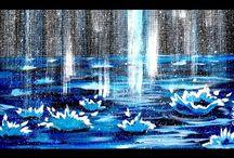 técnica para pintar lluvia