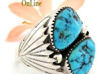 Size 14 Rings / Native American and Artisan made Size 14 Rings including quarter and half sizes Four Corners USA OnLine / by Four Corners USA OnLine