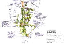 REPRESENTATION PLAN MASSE / Vue en plan de l'architecture dans son contexte