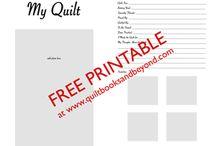 Quilt Journal ideas