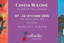 """I luoghi dell'anima"" Cinzia Bulone exhibition / #Colours and memories of an #Italian #artist"