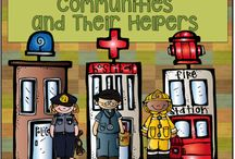 Communities and their Helpers / Terrific lessons on communities and their helpers.
