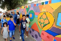 TALLERES CREATIVOS: Pintura mural con niñ@s Wall painting with childrens