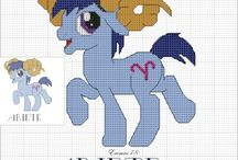 My little pony cross stitch hama beads