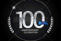 Silver and Gold Anniversary celebration, logo, design.
