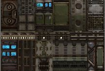 Sci-fi level tiles