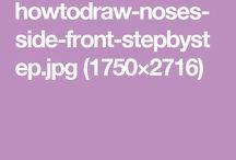 Como dibujar narices humanas