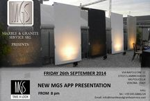 NEW MGS APP PRESANTATION / Marble & Granite Service Srl  Present the NEW MGS APP FOR iOS-Android