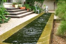 water on garden
