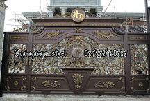 Pintu Pagar Besi Tempa ( Wrought Iron ) Klasik CAHAYA BAJA STEEL