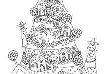 karácsonyi színező