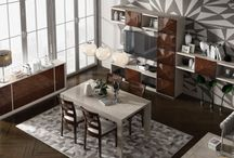 Modern Contemporary Custom Dining Collection