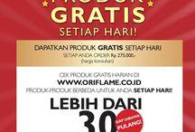 Promo Oriflame Agustus 2013 / Dapatkan produk GRATIS dari Oriflame untuk setiap pembelanjaan Rp 275.000 (harga member). Ada lebih dari 30 produk gratis tersedia! Ayo join untuk dapatkan kememberannya..