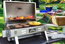 BBQ Propane Grill Barrel Backyard Outdoor Patio Garden Barbeque Burger Portable