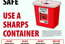 Safe Sharps Disposal / Tips for safely disposing of needles and other sharp devices that are used outside of health care settings. Patients and caregivers should keep these tips in mind when at home, at work, and while traveling.