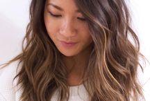 brunt hårfärg