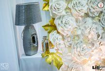 """Óriásvirágok - papírvirágok / Az óriás virágok szerintem legalább akkora """"forradalmat"""" idéznek elő az esküvői dekorációkban, mint néhány éve  a vintage. Jön - lát  -  és győz! Mert látványos, különleges és nem utolsó sorban, akár házilag is elkészíthető...."""
