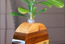 Wooden Bud Vases / Handcrafted Wooden Bud Vase, Flower Vase, Home Decor, One-of-a-Kind Gift, Anniversary Gift, Fresh Flower Display