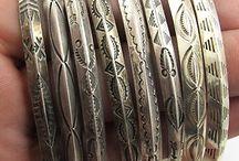 boho jewelery- metal bracelets