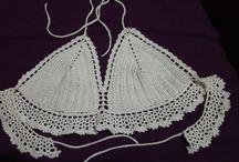 bikini en crochet / Top en hilo rústico