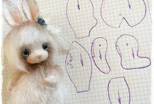 Текстильные игрушки с приваленными мордашками от Татьяны Садовской
