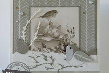 by Yvonne Kerst en winterkaarten / Mijn zelf gemaakt kerst en winterkaarten