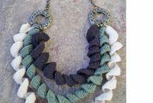 collares crochet ganchillo