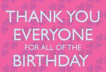 Danke für Geburtstagswünsche